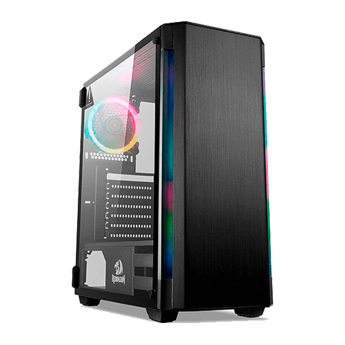 Gabinete Gamer REDRAGON Nosecone GC-909 Mid Tower Vidro Temperado