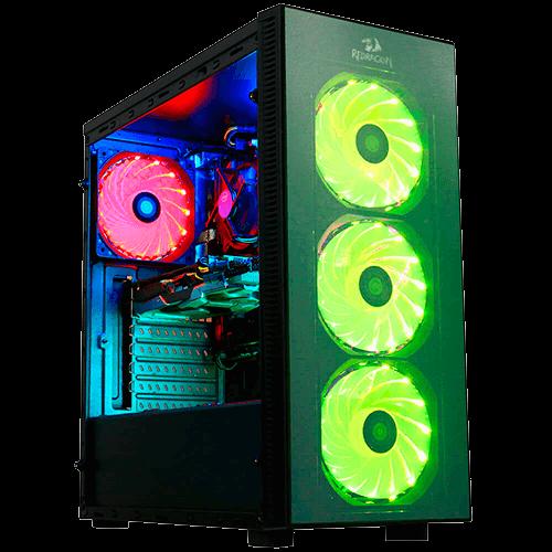 Gabinete Gamer REDRAGON Sideswipe GC-601 Mid Tower 03Fans RGB Vidro Temperado