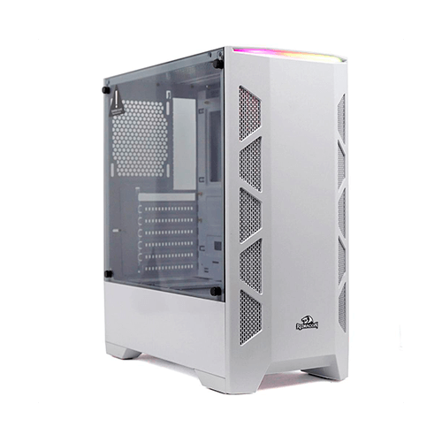 Gabinete Gamer Redragon Starscream GC-610 Branco Lat Vidro Temperado
