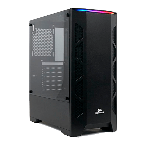 Gabinete Gamer Redragon Starscream Vidro Temperado Preto, Cg-610