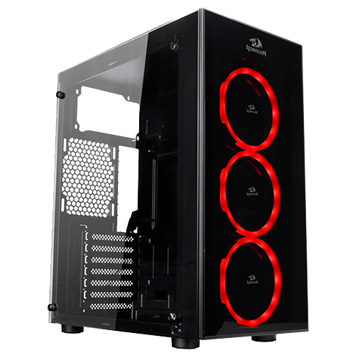 Gabinete Gamer REDRAGON Thunder Cracker GC-605 Mid Tower Vidro Temperado