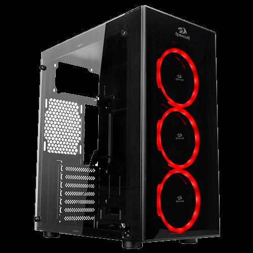 Gabinete Gamer REDRAGON Thunder Cracker GC-605 Mid Tower Vidro Temperado