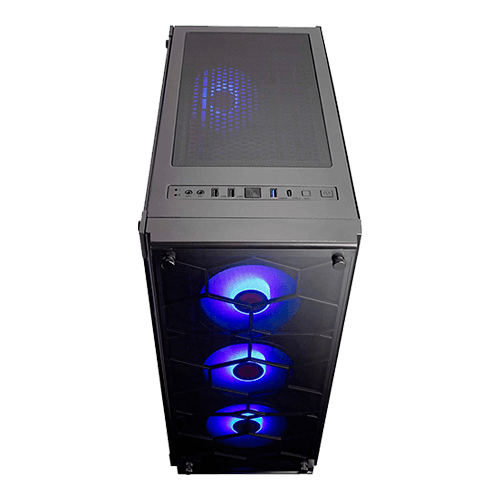 Gabinete Gamer Redragon WellJack GC-606BK sem cooler Frente Vidro