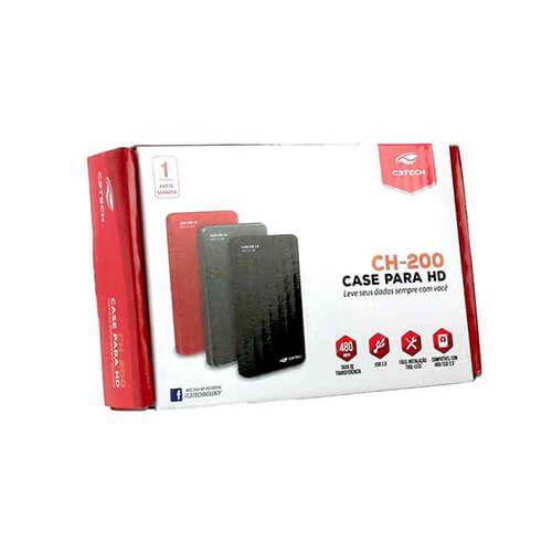 "Gaveta case para HD Externo 2,5"" USB 2.0 CH-200GY Cinza C3Tech"