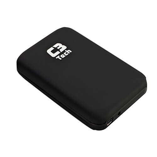 "Gaveta case para HD Externo 2,5"" USB 3.0 CH-300BK Preto C3Tech"
