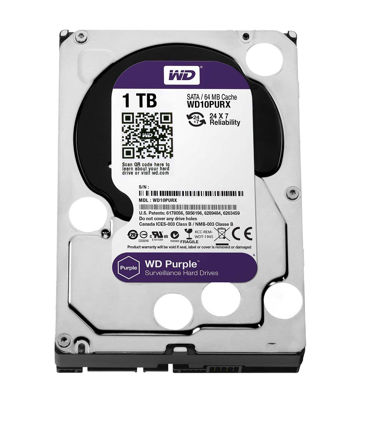 HD Interno 24x7 1TB Purple Sata III