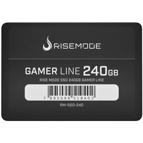 Hd Ssd 240Gb Gamer Rise Sata3  535Mb/S 435Mb/S