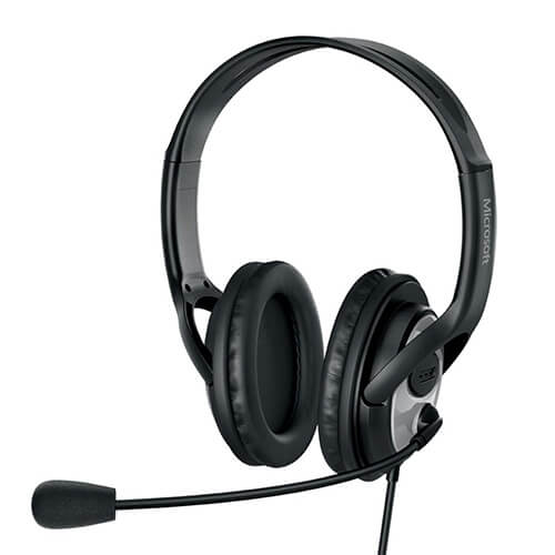 Headset Com Microfone Jug00013 Microsoft