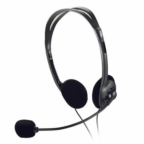 Headset Com Microfone Ph002 Preto Compact Multilaser