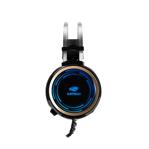 Headset Gamer G310BK P2 e USB, RGB Black C3TECH