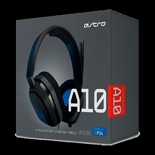 Headset Gamer Logitech Astro A10 Preto/Azul