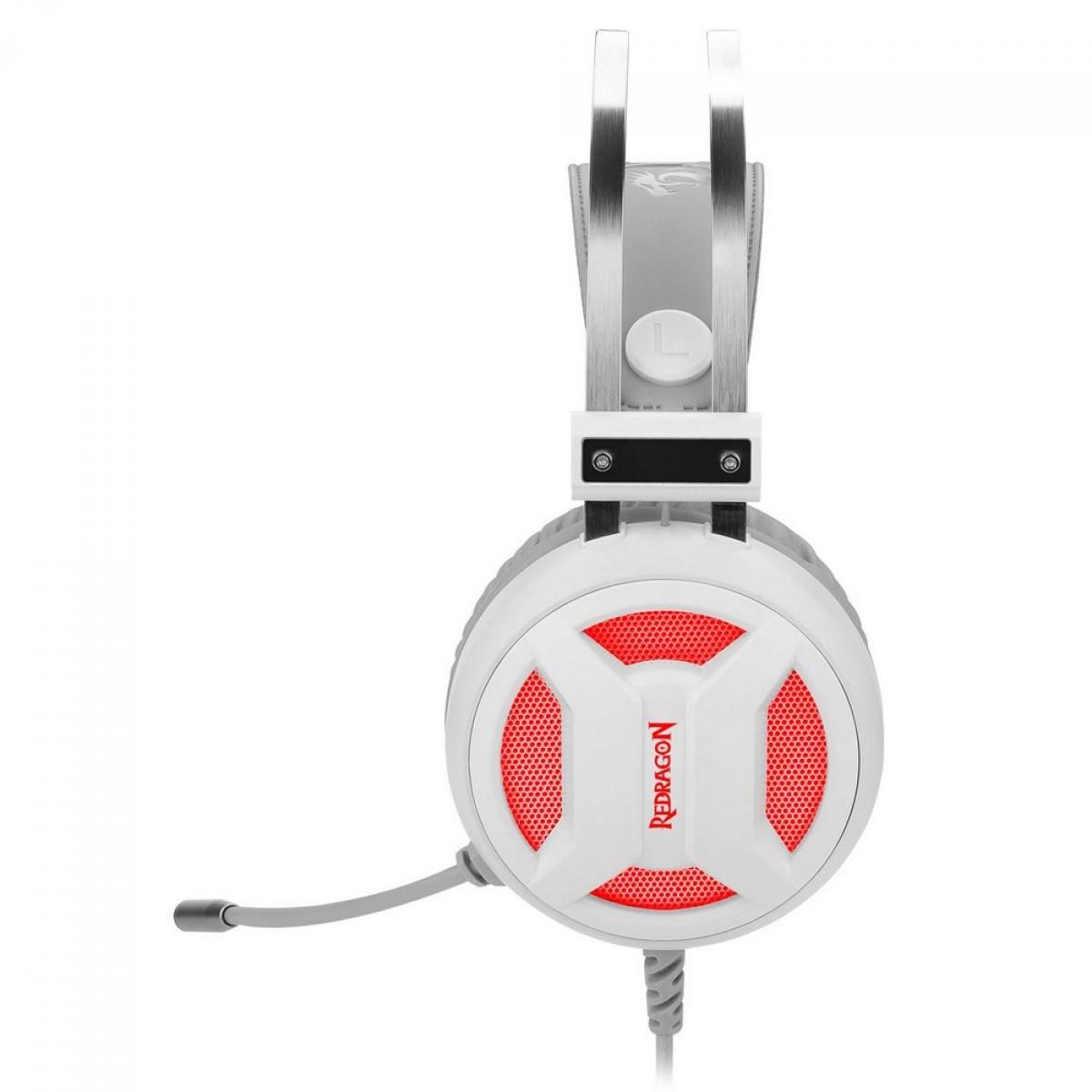 Headset Gamer Redragon H210-WH Minos Branco