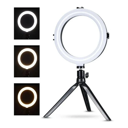 Iluminador Ring Ligth de mesa 8Polegadas 72Leds