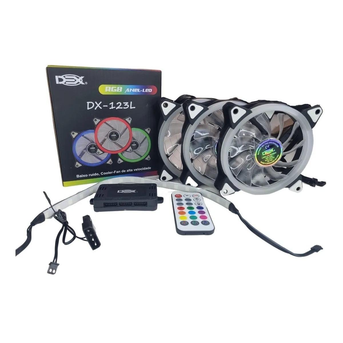 Kit Cooler 03 Fans RGB DX-123L Dex 21