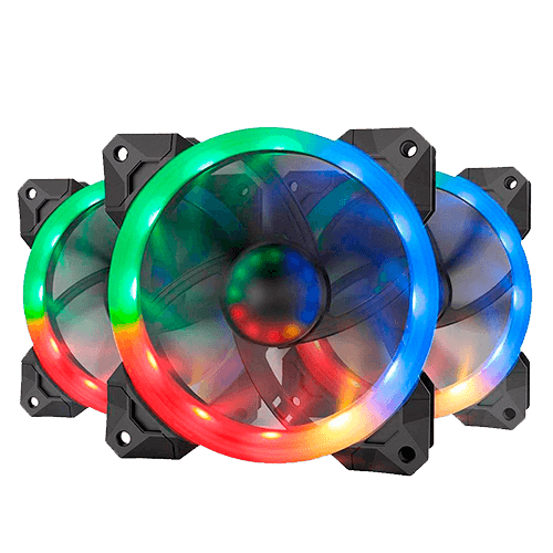 Kit Fan com 03unidades RGB 120mm Redragon GC-008