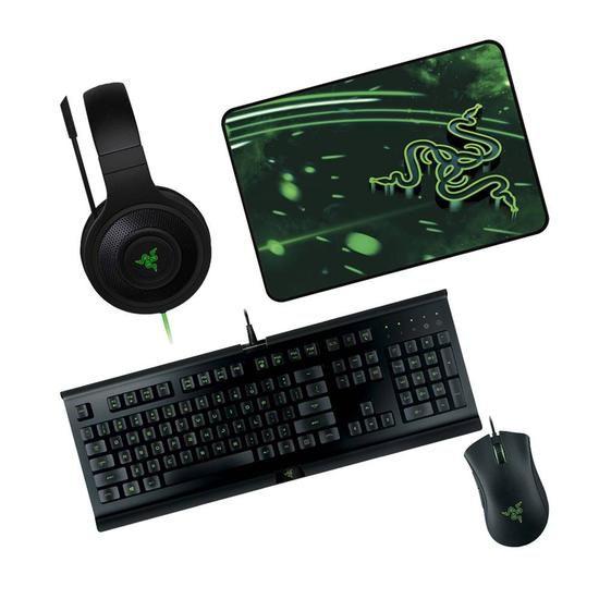 Kit Gamer Razer Holyday Teclado + Mouse + Headset + Mouse Pad