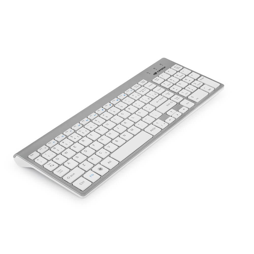 Kit Teclado + Mouse sem Fio W510P-WH Branco