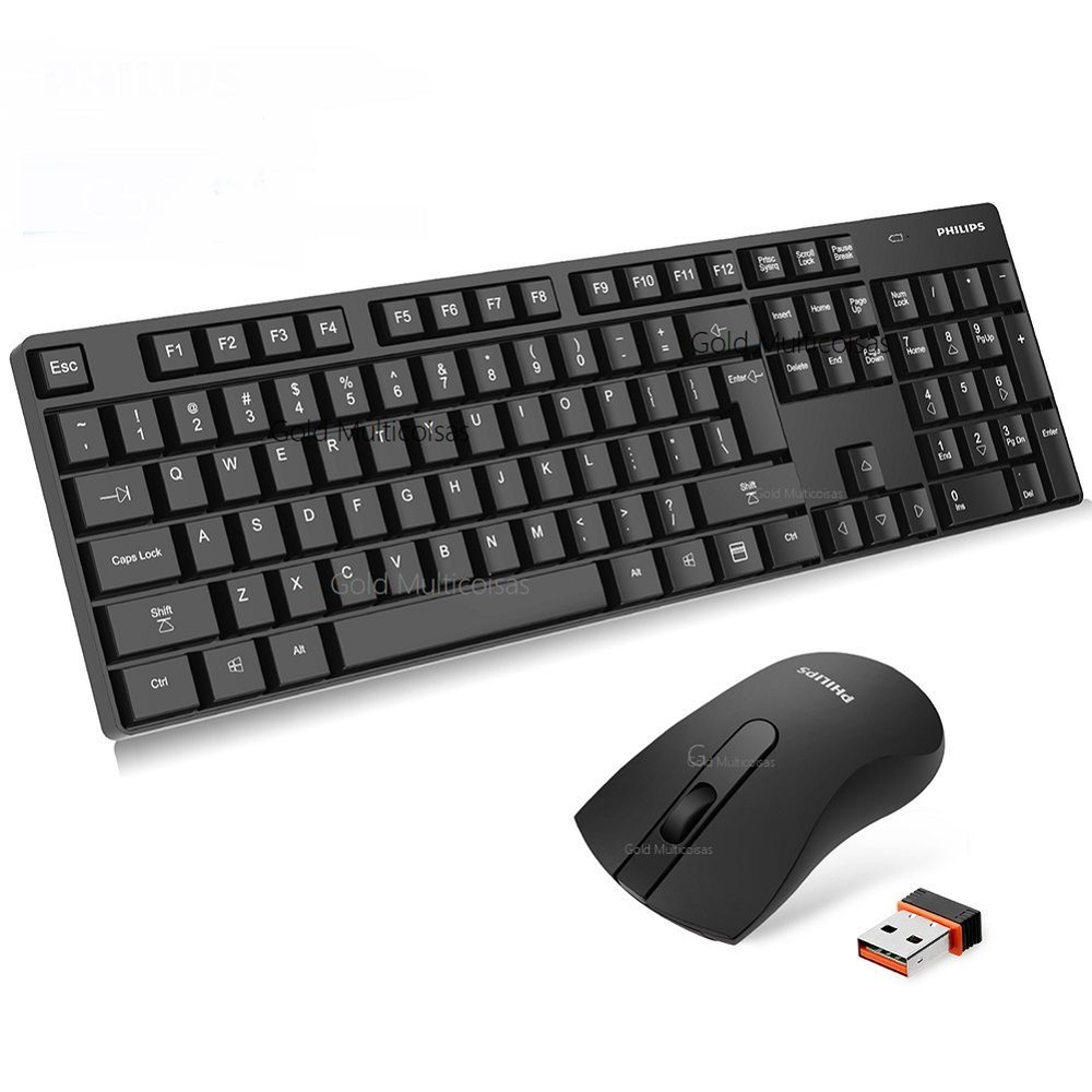 Kit Teclado + Mouse Sem Fio C501 Philips