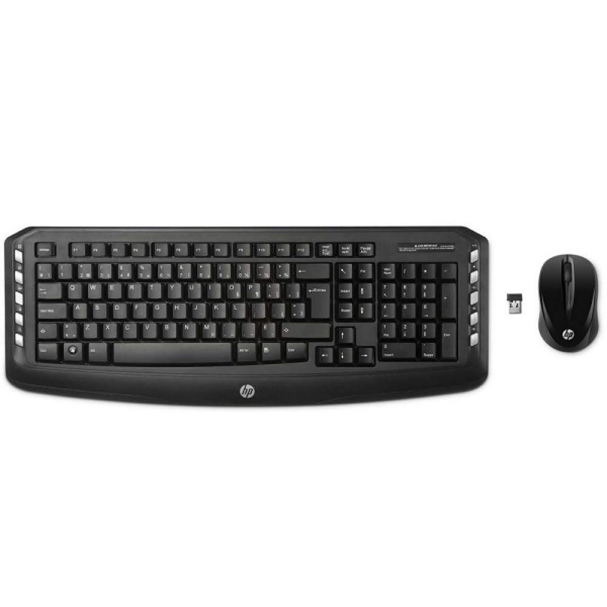 Kit Teclado+Mouse Sem Fio HP C300