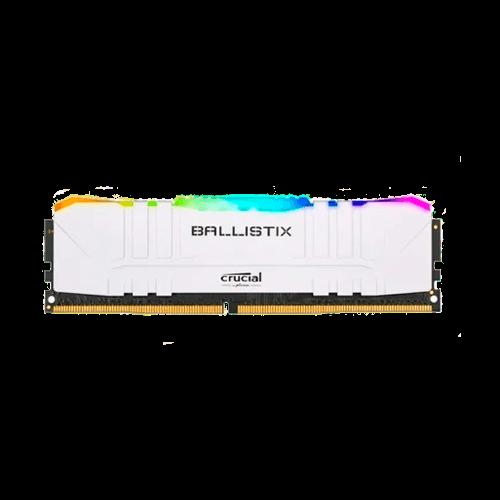 Memoria Gamer DDR4 8GB 3000hz RGB Branca Crucial Ballistix