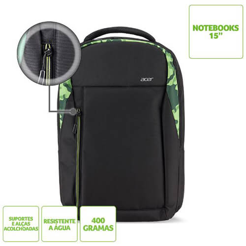 MOCHILA NOTE 15.6 ACER GREEN BAG1A.268