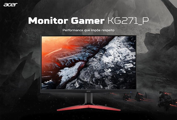 Monitor Gamer 165Hz 27 Acer KG271