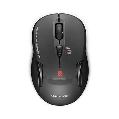 Mouse Bluetooth MO254 preto Multilaser