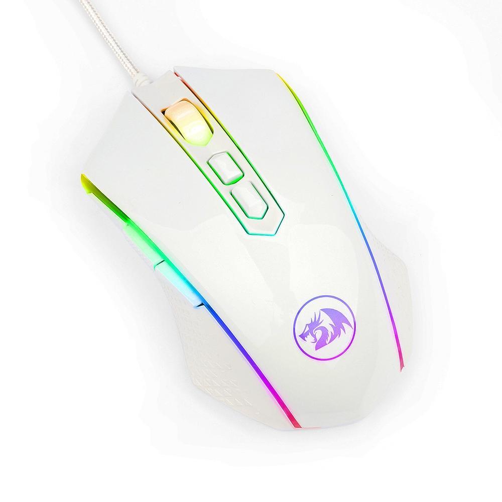 Mouse Gamer Redragon Nemeanlion M710W Branco 10000DPi