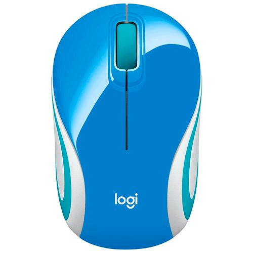 Mouse sem Fio Logitech M187 Mini Azul