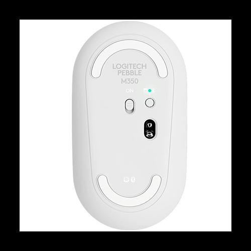 Mouse sem Fio Logitech M350 Branco Pebble