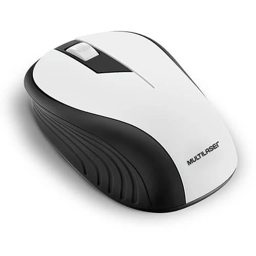 Mouse sem fio MO216 2.4Ghz Branco Multilaser