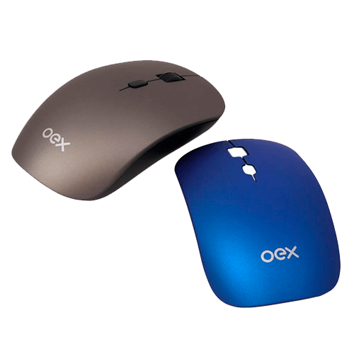 Mouse sem Fio OEX Ms-405 Coat Prata/Azul