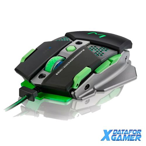 Mouse Usb Gamer Mo249 4000Dpi Mecanico Aluminio Warrior