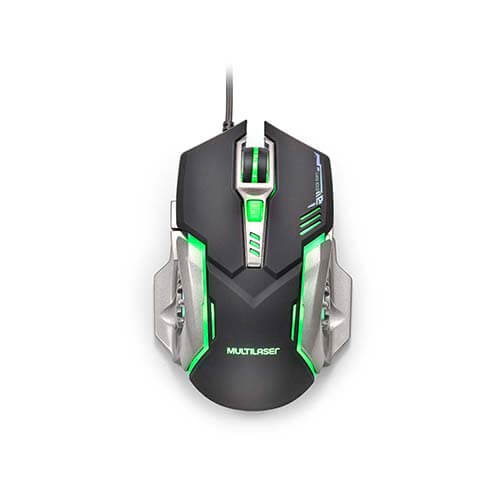 Mouse Usb Gamer Mo269 2400Dpi Led Green Warrior