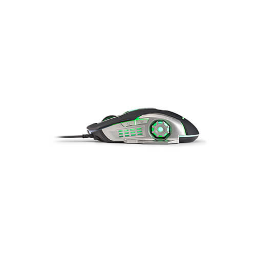Mouse Usb Gamer Mo269 2400Dpi Led Green Warrior