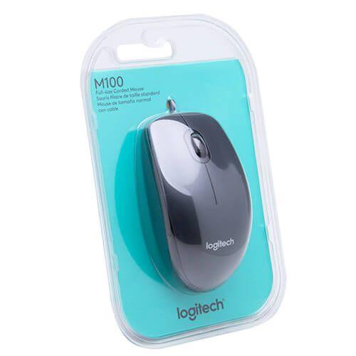 Mouse Usb Logitech M100 Preto