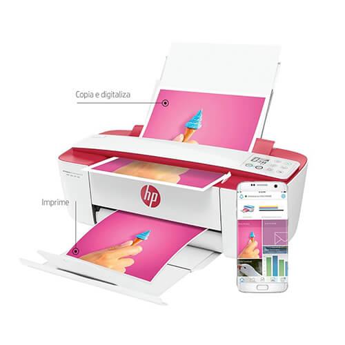 Multifuncional Deskjet Hp 3786 Aio Rosa #Brz