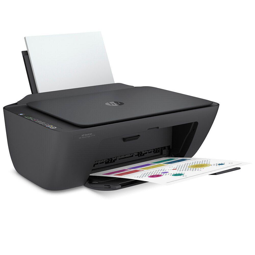 Multifuncional Deskjet HP DJ2774 Wi-fi Preta
