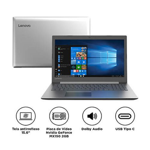 "Notebook Lenovo Intel Core I5 8GB 1TB Placa de Vídeo 2GB Tela 15.6"" Windows 10 Ideapad 330 81FE0001BR"