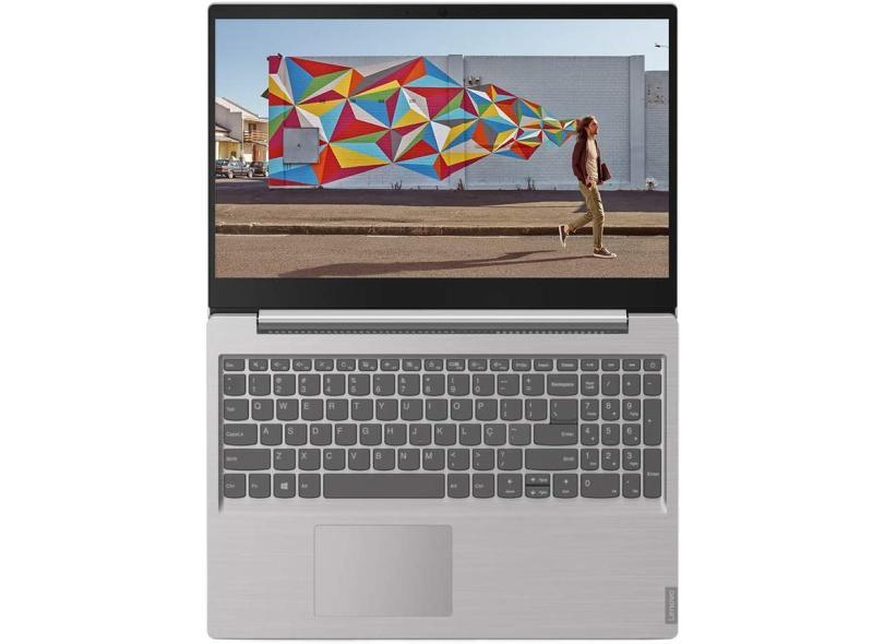 "Notebook Lenovo Ultrafino Ideapad S145 AMD Ryzen 5 12GB 1TB Linux 15.6"" Prata"