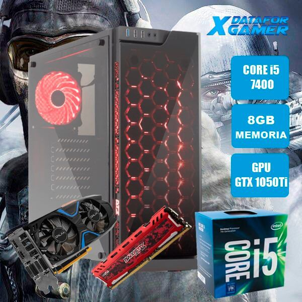 Pc Gamer Intel Core I5 7400 8Gb 1Tb Ssd120 Gtx1050Ti MSi Artic Astro