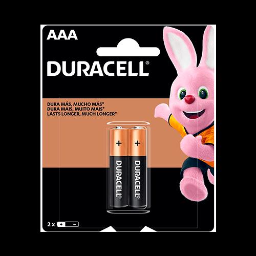 Pilha Alcalina AAA Palito Duracell Cartela 02 unidades