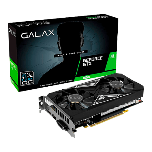 Placa de Vídeo 4GB DDR6 GTX1650 128Bits Galax Ex 65SQL8DS93E1