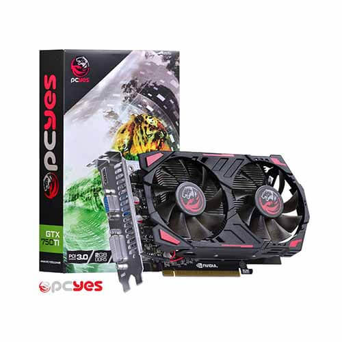 Placa de Vídeo PCYes GeForce GTX 750 Ti 2GB DDR5 128B