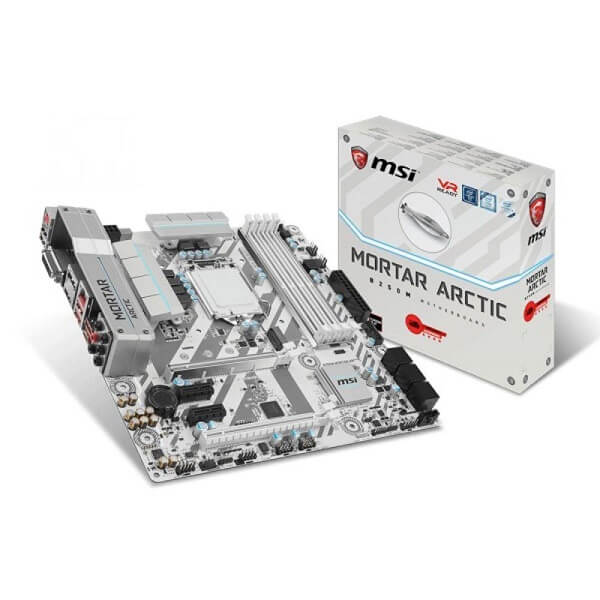 Placa Mãe Gamer 1151 B250M Msi Arctic