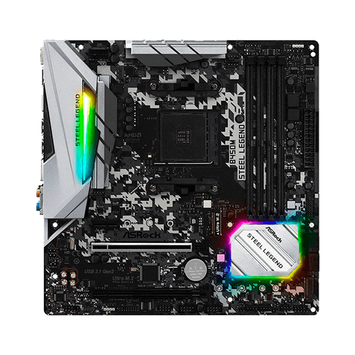 Placa Mae Gamer Amd Am4+ B450M Stell Legend Asrock