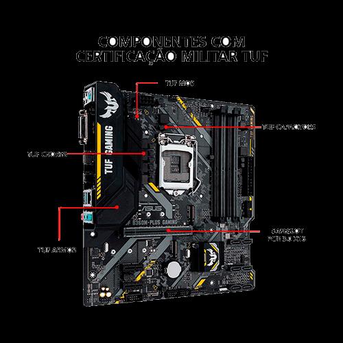 Placa Mae Gamer Intel B360M-Plus Tuf Asus