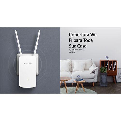Repetidor de Tomada 300Mbps 2 Antenas MW300RE Mercusys