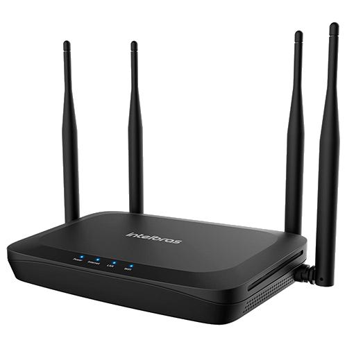 Roteador Wireless 04 Antenas GF1200 Intelbras Dual Band 01porta Giga