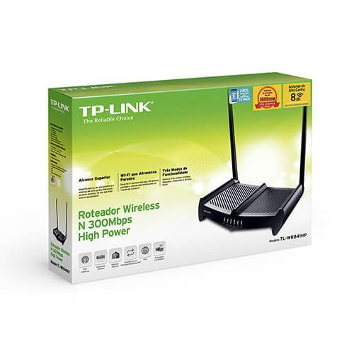 Roteador Wireless  02 antenas WR841HP 300MBps TP Link